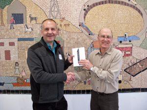 Peter Weiler won the iPad raffle