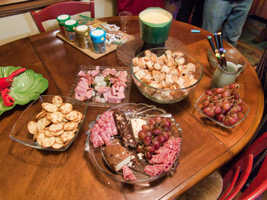 Fondue and Cookies